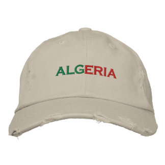 アルジェリア 刺繍入りキャップ