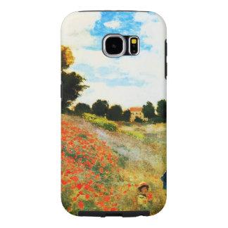 アルジャントゥーユのクロウドのMonetケシ Samsung Galaxy S6 ケース