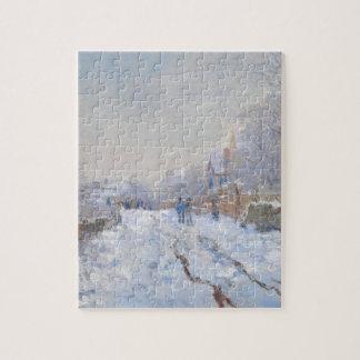 アルジャントゥーユのクロード・モネ//の雪 ジグソーパズル