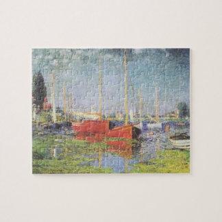 アルジャントゥーユのパズルの赤いボート ジグソーパズル