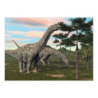 アルゼンチノサウルスの恐竜の食べ物の木- 3Dは描写します カード