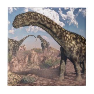 アルゼンチノサウルスの恐竜 タイル