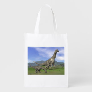 アルゼンチノサウルスの恐竜- 3Dは描写します エコバッグ