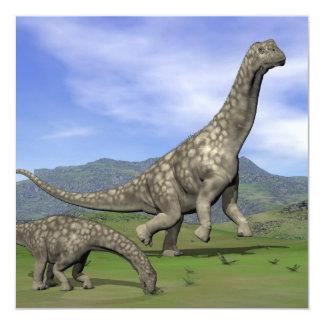 アルゼンチノサウルスの恐竜- 3Dは描写します カード
