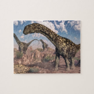アルゼンチノサウルスの恐竜- 3Dは描写します ジグソーパズル