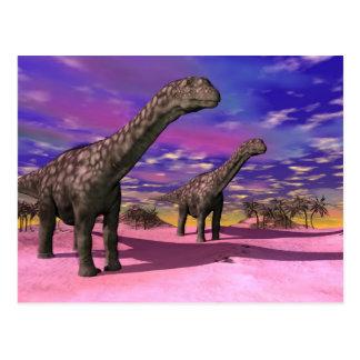 アルゼンチノサウルスの恐竜- 3Dは描写します ポストカード