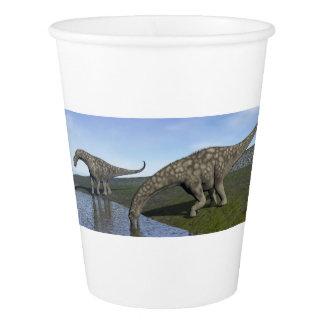 アルゼンチノサウルスの恐竜- 3Dは描写します 紙コップ