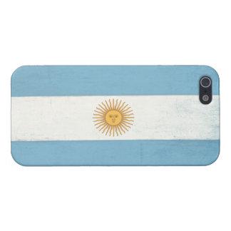 アルゼンチンからの動揺してな旗が付いているiPhoneの皮 iPhone 5 Case