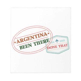 アルゼンチンそこにそれされる ノートパッド