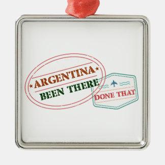 アルゼンチンそこにそれされる メタルオーナメント