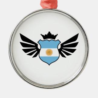 アルゼンチンのサッカー メタルオーナメント