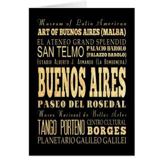 アルゼンチンのタイポグラフィの芸術のブエノスアイレス都市 カード