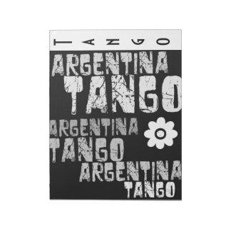 アルゼンチンのタンゴ ノートパッド