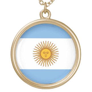 アルゼンチンのネックレスの旗 ゴールドプレートネックレス