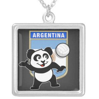 アルゼンチンのバレーボールのパンダ シルバープレートネックレス