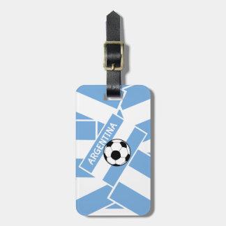 アルゼンチンのフットボール ラゲッジタグ