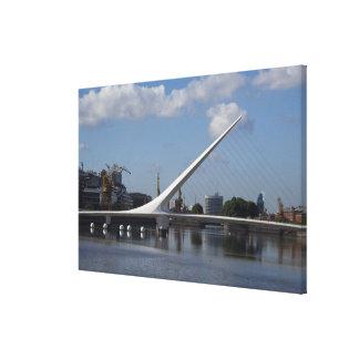 アルゼンチンのブエノスアイレスの首都。 女性 キャンバスプリント
