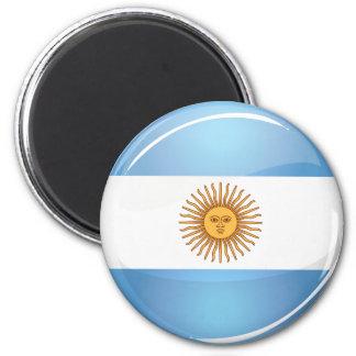 アルゼンチンの光沢のある円形の旗 マグネット