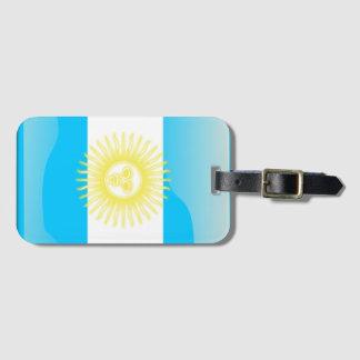 アルゼンチンの光沢のある旗 ラゲッジタグ