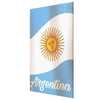 アルゼンチンの国旗の休暇ポスター キャンバスプリント
