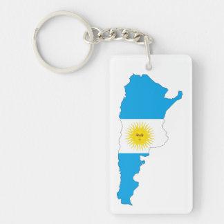 アルゼンチンの国旗の地図の形の記号 キーホルダー