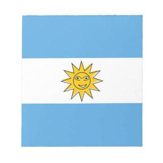 アルゼンチンの国旗 ノートパッド