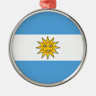 アルゼンチンの国旗 メタルオーナメント