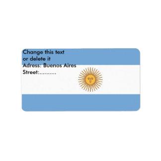 アルゼンチンの旗が付いているカスタムなラベル ラベル