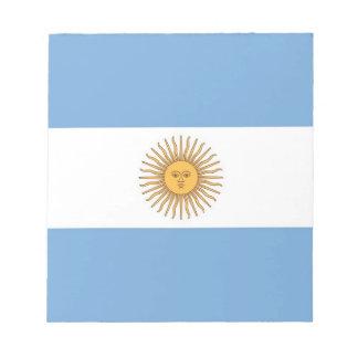 アルゼンチンの旗が付いているメモ帳 ノートパッド