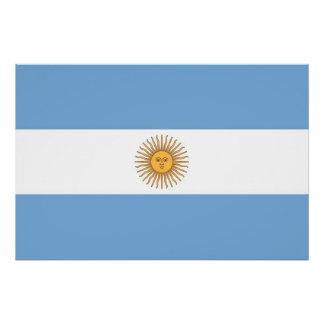 アルゼンチンの旗が付いている愛国心が強いポスター ポスター