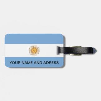 アルゼンチンの旗が付いている荷物のラベル ラゲッジタグ