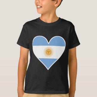 アルゼンチンの旗のハート Tシャツ