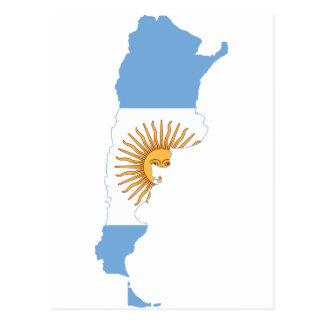 アルゼンチンの旗の地図AR ポストカード