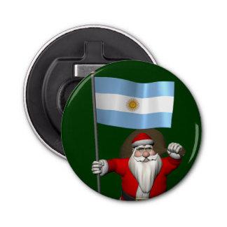 アルゼンチンの旗を持つサンタクロース 栓抜き
