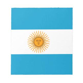 アルゼンチンの旗 ノートパッド