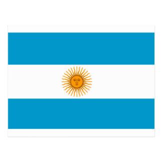 アルゼンチンの旗 ポストカード