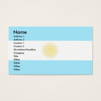 アルゼンチンの旗 名刺