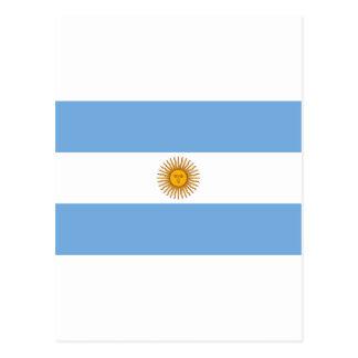 アルゼンチンの旗AR ポストカード