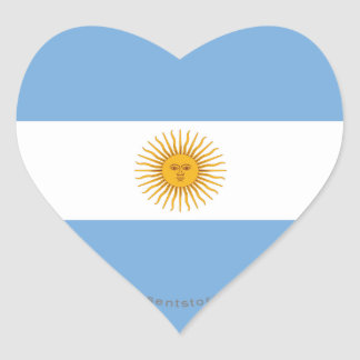 アルゼンチンの明白な旗 ハートシール
