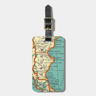 アルゼンチンの荷物のラベルのヴィンテージの地図 ラゲッジタグ