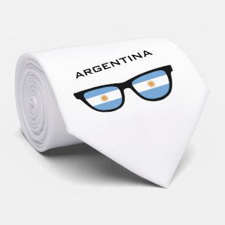 アルゼンチンの陰カスタムな文字及び色のタイ ネクタイ