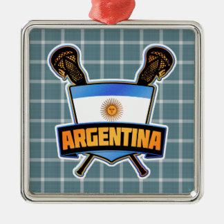 アルゼンチンアルゼンチン人のラクロスの装飾 メタルオーナメント