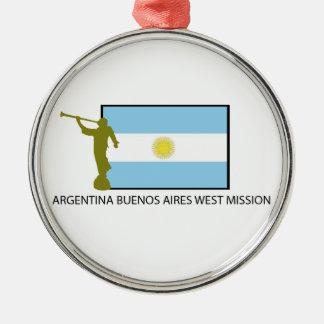 アルゼンチンブエノスアイレスの西の代表団LDS メタルオーナメント