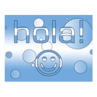 アルゼンチン人のギフト: こんにちは/Hola + スマイリーフェイス ポストカード