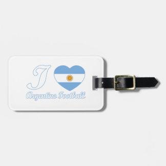 アルゼンチン人のフットボールのデザイン ラゲッジタグ