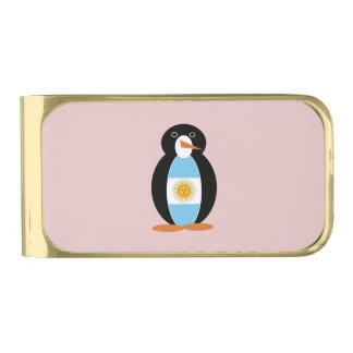 アルゼンチン人のペンギン 金色 マネークリップ