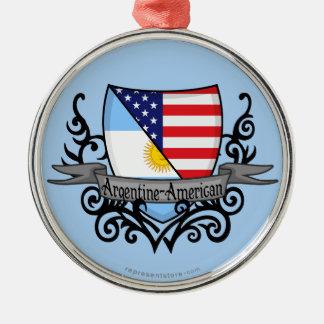 アルゼンチン人アメリカの盾の旗 メタルオーナメント