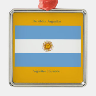 アルゼンチン共和国の旗。 メタルオーナメント