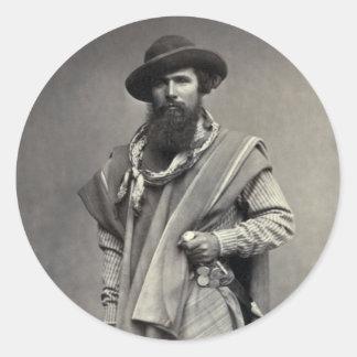 アルゼンチン共和国1868年のガウショス ラウンドシール