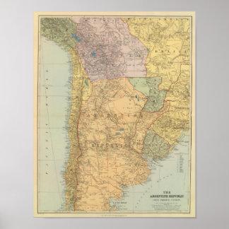アルゼンチン共和国、チリ、パラグアイ、ウルグアイ ポスター